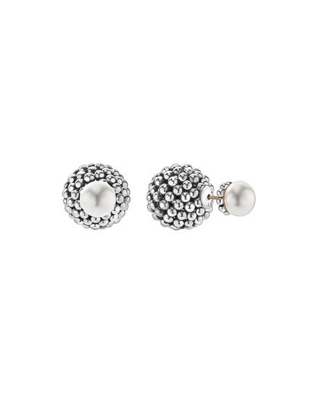 Lagos Graduated Caviar Hook Pearl Earrings hUv1mzr8