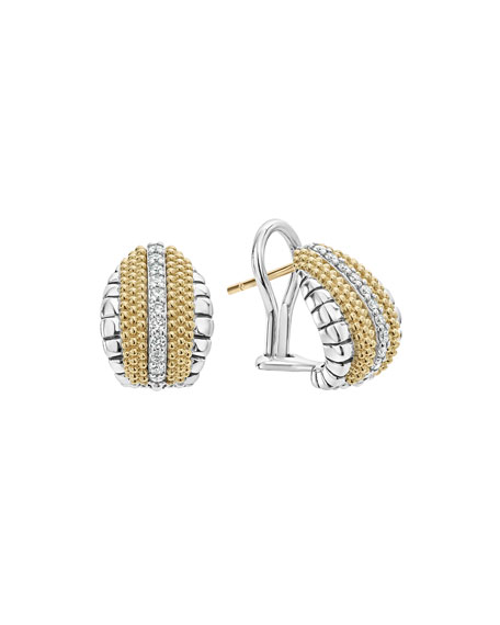 Lux Small Shrimp Earrings with Diamonds