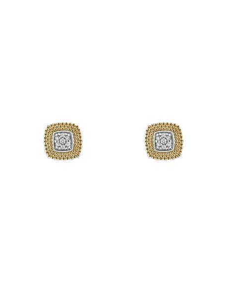 Lagos 11mm Lux Diamond Stud Earrings IJya0CX0