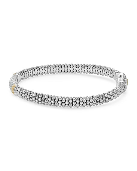 Diamond Lux Caviar 6mm Single Station Bracelet