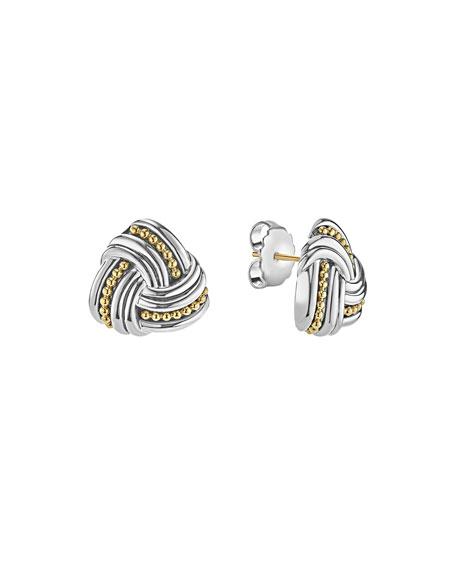 Large Caviar Knot Earrings