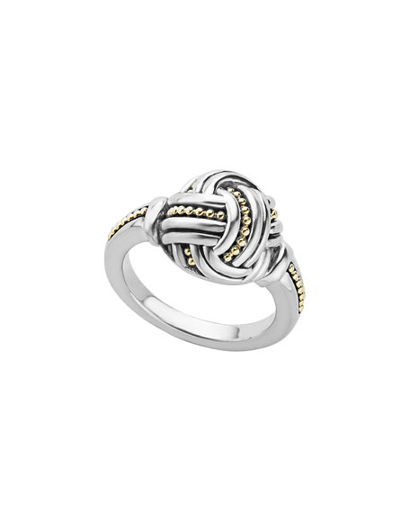 Lagos Small Sterling Silver & 18K Caviar Knot