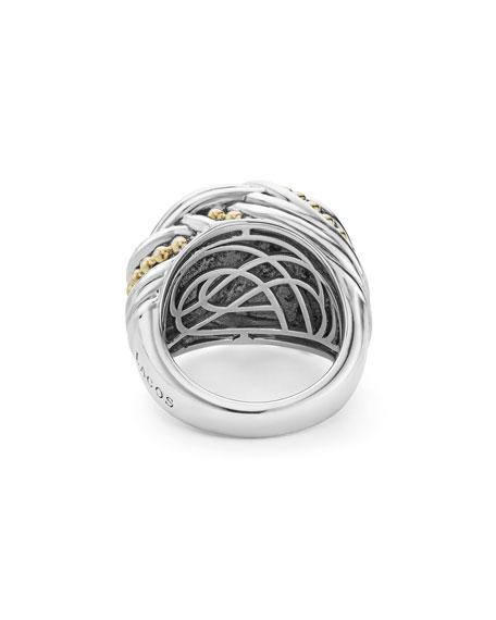 Large Torsade Knot Ring, Size 7
