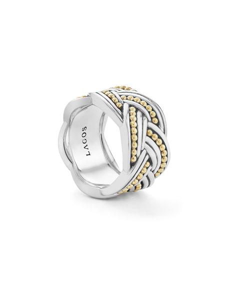 Torsade Knot Band Ring, Size 7