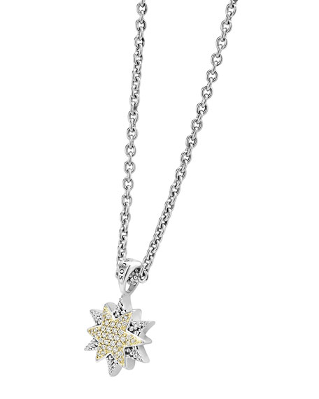North Star Pendant Necklace with Diamonds
