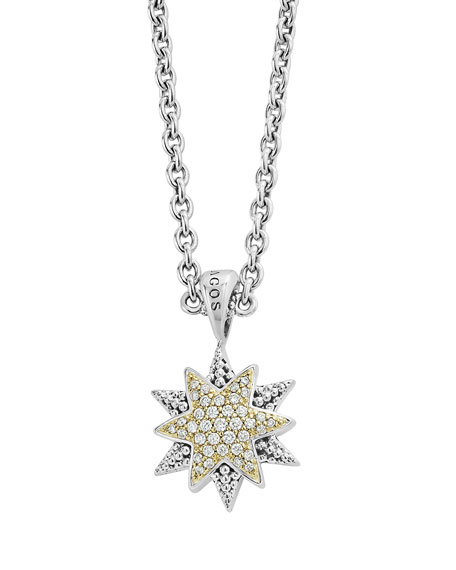 Lagos North Star Pendant Necklace with Diamonds 5tt899L4G