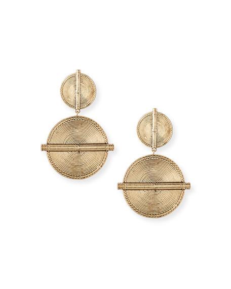 Nest Carved Coin Drop Earrings ZbNcWI2RcU