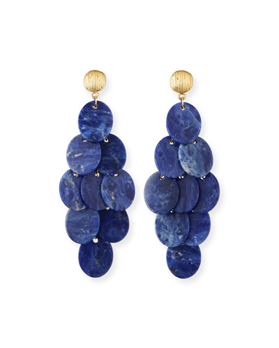 Sodalite Cluster Statement Earrings