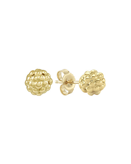 LAGOS 18K Gold Caviar Stud Earrings