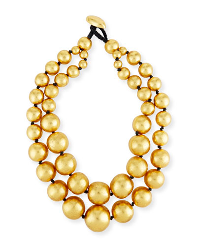 Beaded Double-Strand Necklace