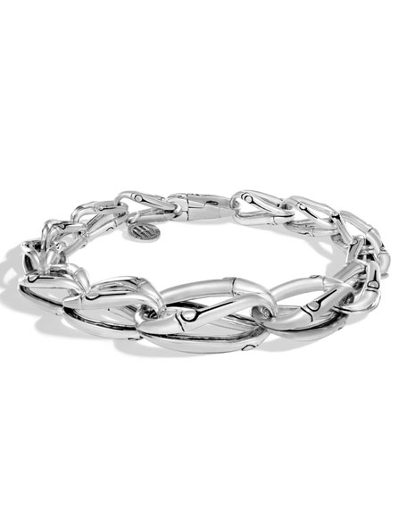 John Hardy Bamboo Silver Graduated Link Bracelet
