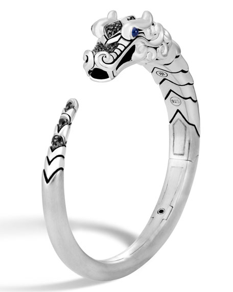 Image 1 of 4: Legends Naga Silver Small Kick Cuff Bracelet