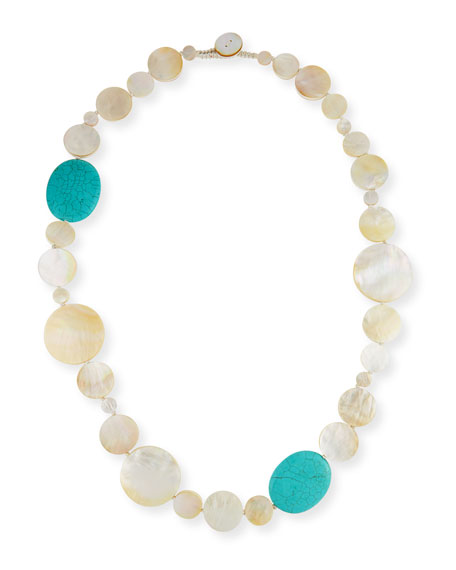 Single-Strand Mother-of-Pearl & Turquoise Necklace
