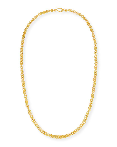 Hill Tribe Chain Necklace, 38""