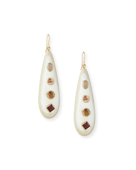 Ashley Pittman Upendo Light Horn Teardrop Earrings