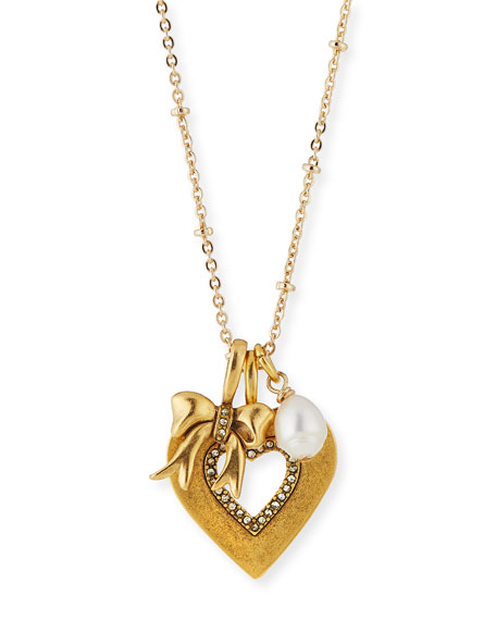 Sequin Heart Talisman Necklace YJRd4x