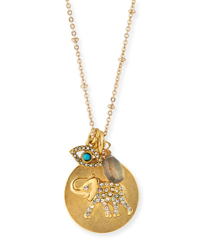 Elephant Talisman Pendant Necklace