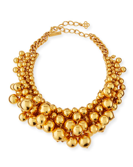 Oscar de la Renta Bold Beaded Collar Necklace