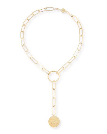 Marla Jumbo Lariat Monogram Necklace