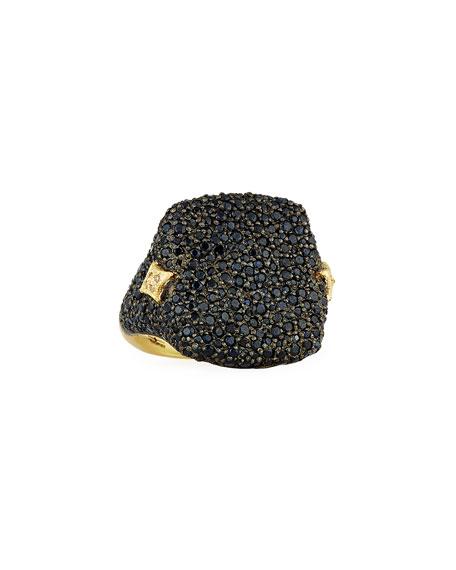 Armenta Old World Black Sapphire Signet Ring