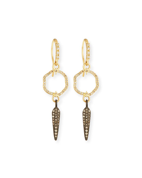 Armenta Old World Small Circle Spike Earrings with