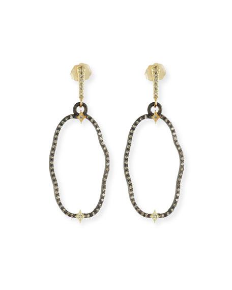 Armenta Old World Open Oval Drop Earrings with Diamonds