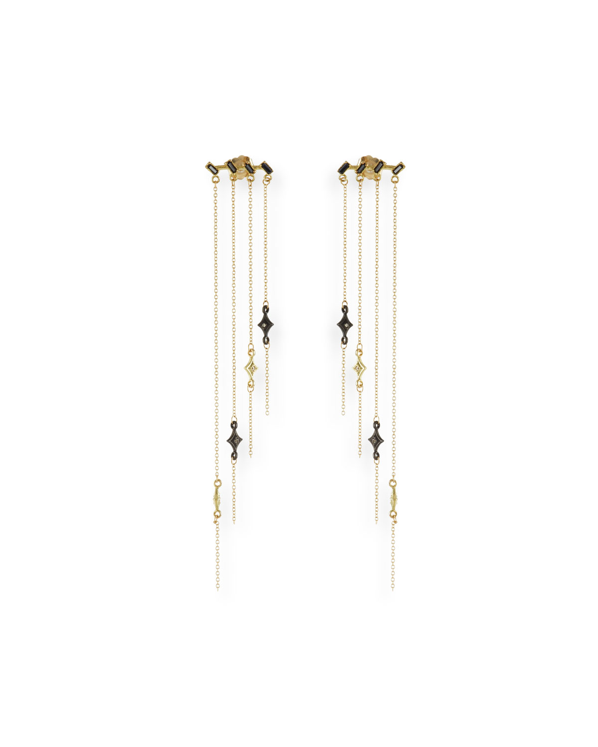 Armenta Old World Staggered Chandelier Earrings with Diamonds RbVJy