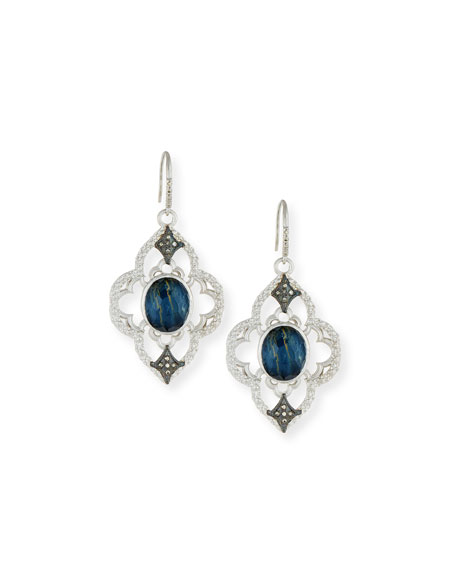 Armenta New World Open Scroll Pietersite Earrings with