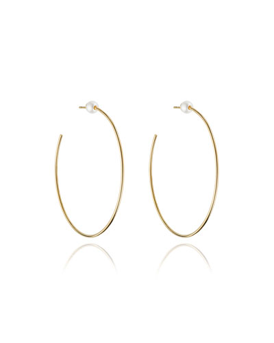 Sfera Pearl Stud Hoop Earrings