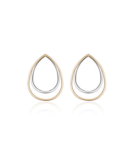Sophia Concentric Teardrop Earrings