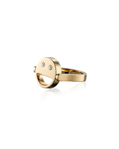 Sorriso Smiley Face Ring