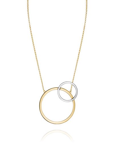 Sole Two-Tone Circle Necklace