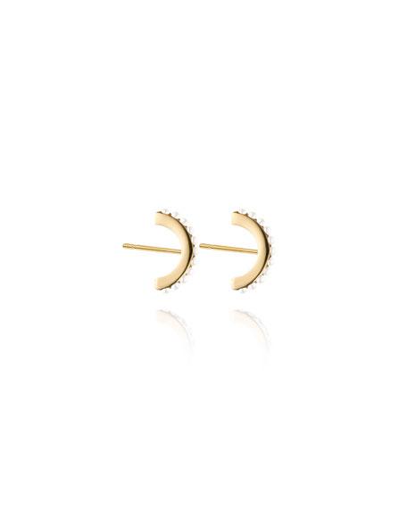 Luna Pearly Hoop Stud Earrings