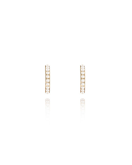 Luna Pearly Hoop Stud Earrings