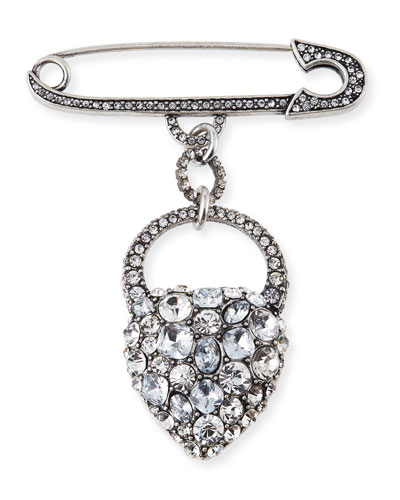 Nina Crystal Heart Brooch