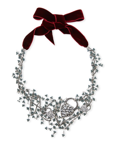 Nina Crystal Collage Necklace