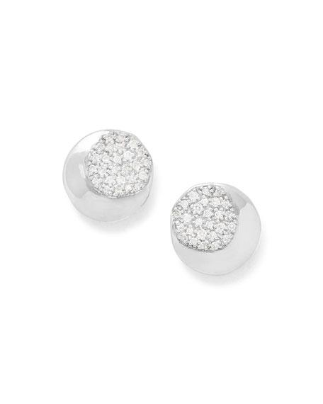 Onda Stud Earrings with Diamonds