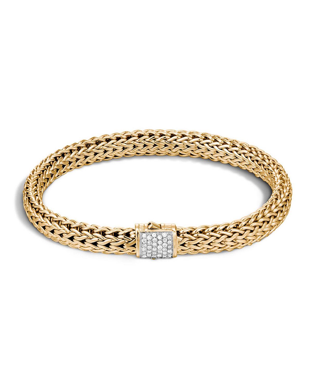 Sydney Evan 7mm Beaded Golden Ball Bracelet with Diamond Bead qbjQq7qL