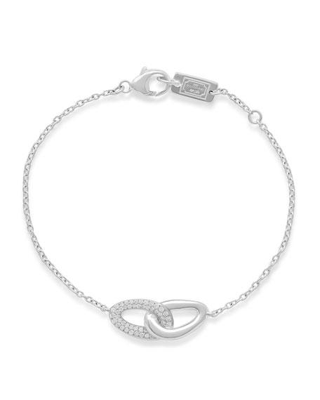 Ippolita Cherish Silver Link Bracelet with Diamonds