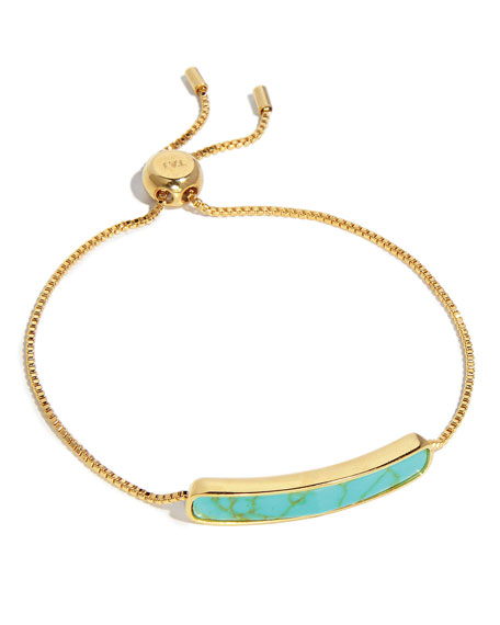 Synthetic Turquoise ID Tennis Bracelet