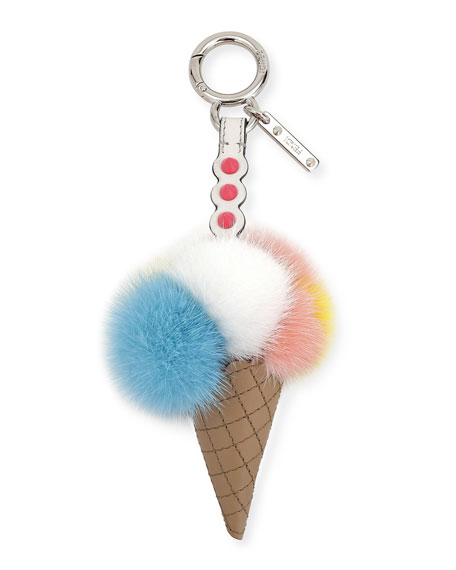 Fendi Fun Fair Mink Ice Cream Scoop Charm