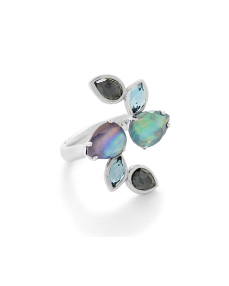 Ippolita 925 Rock Candy Six-Stone Open Ring in Eclipse