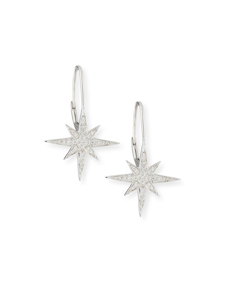 Pavé Diamond Starburst Earrings