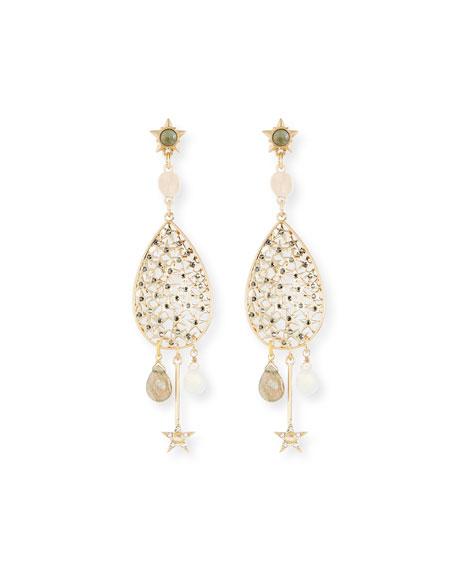 Celestial Crystal Drop Earrings