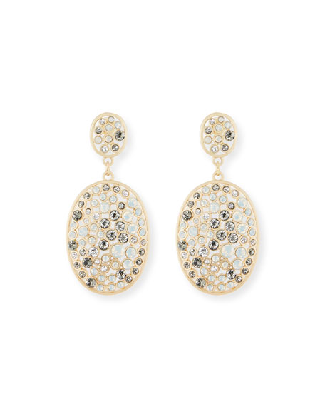Multi-Bezel Crystal Drop Earrings