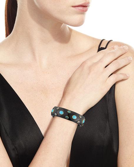 Tabaka Turquoise Dark Horn Bangle Bracelet