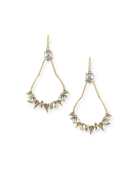 Alexis Bittar Crystal-Encrusted Mosaic Futuristic Teardrop Earrings