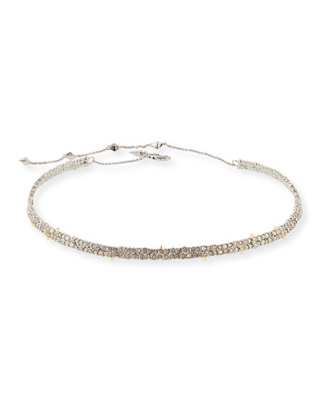 Alexis Bittar Encrusted Spike Choker Necklace DgYwa4vr