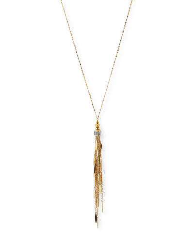 Golden Chain Fringe Pendant Necklace