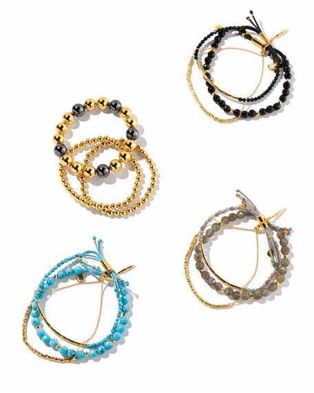 Laguna Gray Beaded Bracelets, Set of 3